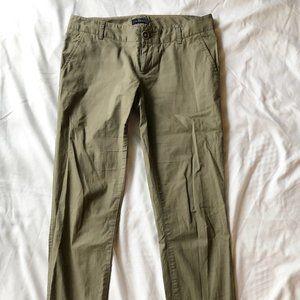 The Limited Olive Green Slacks (Size 0 Regular)